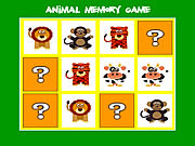 Animal memory game játék