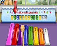 Darbys colorful music keys mem�ria j�t�kok
