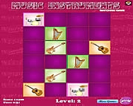 Music intruments matching game online játék